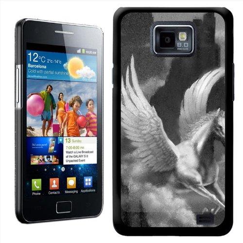 Fancy Een Snuggle Pegasus Vliegend Paard Ontwerp Hard Case Clip Op Achterzijde Cover voor Samsung Galaxy S2 i9100