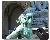 ロックの端、フィレンツェの仏像の審美的な感覚のマウスパッドステッチの端が付いているマウスパッド