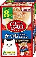 (まとめ買い)いなばペットフード CIAO チャオ パウチ かつお ささみ・おかか入り 40g×8袋 猫用フード 【×6】