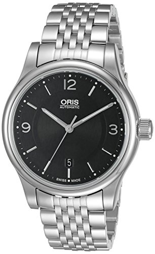 Oris Men's 73375944034MB Classic Analog Display Swiss Automatic Black Watch