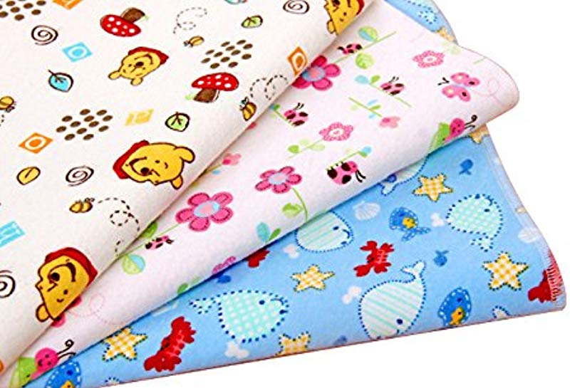 Pevor Baby Kids Waterproof Mattress Sheet Protector Bedding Diapering Changing Pads Random Color Washable Diaper Changing Pad Liners Mats