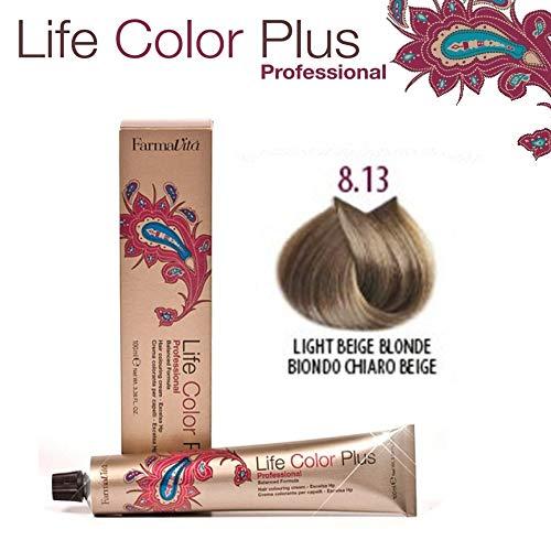 Farmavita Life Color Plus, Tinte 8.13 Rubio Claro Beige - 60 ml