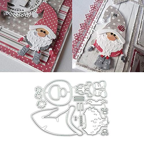 Sisha Claus Metal Die Cuts, Cutting Dies Cut Stencils for DIY Scrapbooking Photo Album Decorative Embossing Paper Dies for Card Making Template