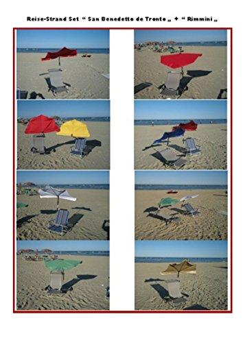 LUXUS KLAPPSESSEL Loisirs Voyage – Beach – Plage – Set Stabielo® Holly® San Benedetto Del tronto avec Compartiments Parapluie Holly – Couleur Bordeaux Rouge – -