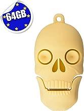 Cute Flash Drive 64GB, EASTBULL Novelty Flash Drive Memory Stick Cute USB 2.0 Thumb Drive Pen Drive Cartoon Skull Shape (1PCS)