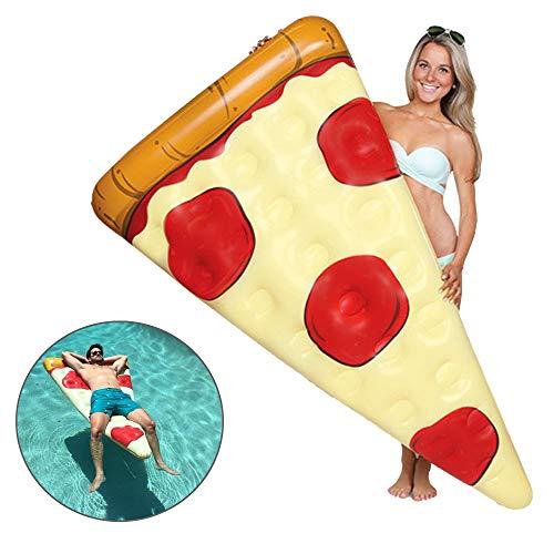 LOVEHOUGE Zattera Galleggiante per Piscina,Piscina Galleggiante Gonfiabile per Pizza,Giocattolo Divertente per Sport Acquatici,Addensare,Anti-Perdite