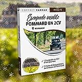 BOX CADEAU INSOLITE VALABLE A VIE • Escapade en 2CV & Dégustation de vins au Château de Pommard en Bourgogne • Idées cadeaux homme • Cadeau homme • Coffret cadeau couple • Cadeau Noël