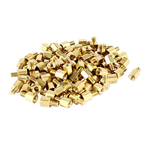 88 Pcs PC PCB Motherboard Brass Standoff Hexagonal Spacer M3 5+4mm