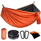 Overmont Double Layers Camping Hammock German TUV Certificated Portable Outdoor Hammock Lightweight