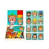 NANE Tablero de Dibujo magnético de Madera para niñosTablero de Dibujo de Doble Cara Magnético,Dibujo de Doble Cara Magnético Juguete Educativo para niños de 3+ años