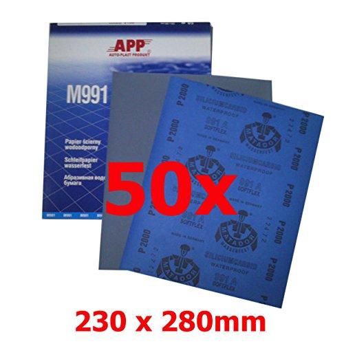 APP M991 Schleifpapier wasserfest 230 x 280 P 1200 50 stück 40MW1200