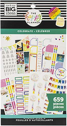 ME & MY BIG IDEAS Happy Planner STCKRS, Celebrate, 659/Pkg