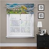 Adorise - Cenefa para ventana, diseño de mariposas, color rubio, color acuarela, muy suave y fácil de trabajar, 56 x 14 pulgadas