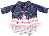 Götz 3402659 Babykombi Vacanze - Puppenbekleidung Gr. S - 3-teiliges Bekleidungs- und Zubehörset für Babypuppen von 30 - 33 cm