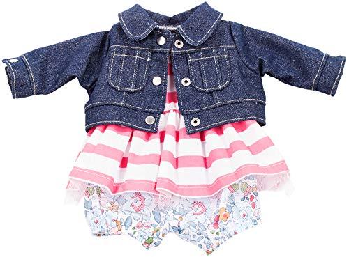 Götz 3402660 Completo bebè Vacanze - Abbigliamento bambola misura M - set 3 pezzi di vestiti e accessori per bambole bebè alte 42-46 cm