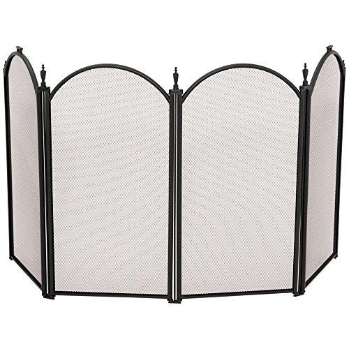 Uniflame 4-Fold 25-Inch Screen, Mini, Black