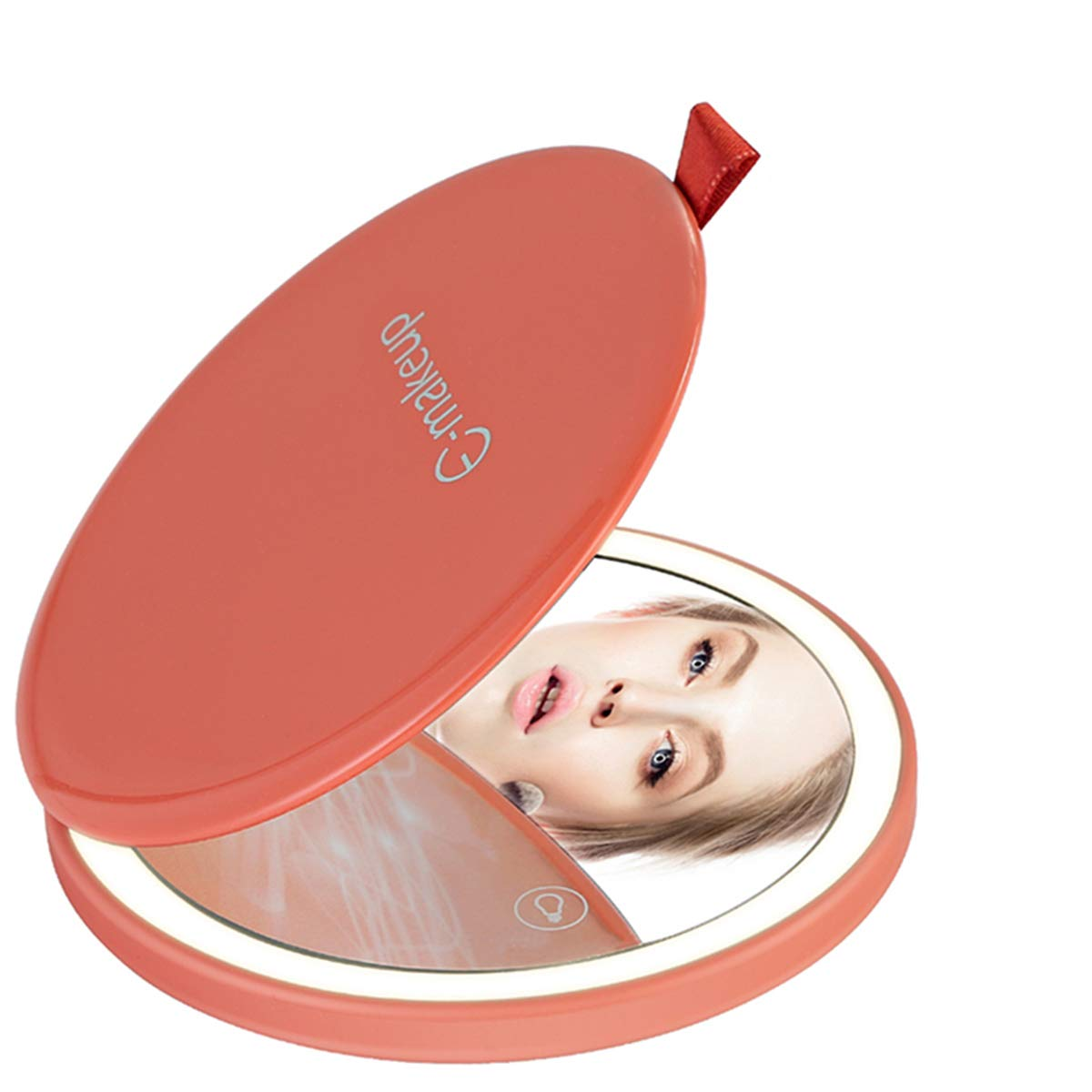Travel Mirror Lighted Makeup Light New life with Compact Re Reservation