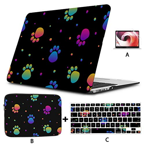 Mac Pro Case Abstract Rainbow Seamless Modern Swatch Macbook Case 12 Inch Hard Shell Mac Air 11'/13' Pro 13'/15'/16' With Notebook Sleeve Bag For Macbook 2008-2020 Version