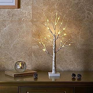 EAMBRITE Lichterbaum Lichterzweige für Innen 24 Warmweiß LEDs Bäumchen Birken Dekozweige Batteriebetrieb Weihnachtsdeko fü...