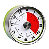 AIMILAR 60 Minutes Mechanical Visual Timer - Small Magnetic Kitchen Countdown Timer with Loud Alarm for Kids and Adults Baking Cooking Barbecue (Green)