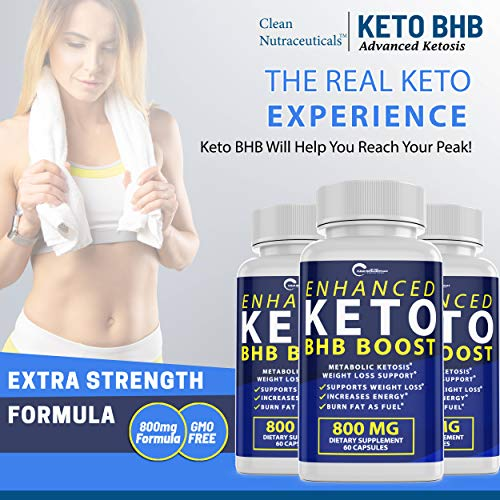 Enhanced Keto BHB Boost Pills, 800mg for Weight Loss, Keto BHB Pills for Energy, Focus, Metabolism Boost - Premium Advanced Powder Exogenous Ketones for Rapid Ketosis Diet for Men Women (1-Pack) 5