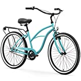 sixthreezero Around The Block Women's 3-Speed Beach Cruiser Bicycle, 26' Wheels, Teal Blue with Black Seat and Grips
