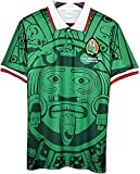 1998 Camiseta de fútbol Copa Mundial de México Retro, Local/Visitante Retro Nacional de Futbol T-ShirtWorld Copa Camiseta de fútbol (Color : Green, Size : Medium)