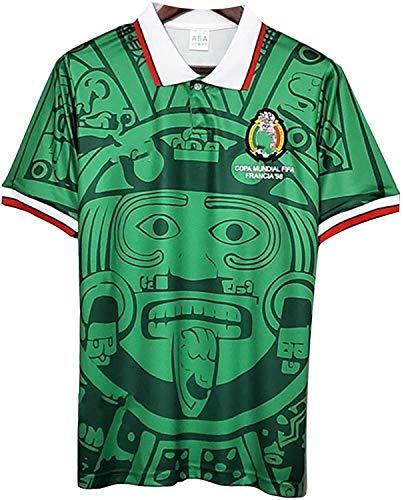 1998 Camiseta de fútbol Copa Mundial de México Retro, Local/Visitante Retro Nacional de Futbol T-ShirtWorld Copa Camiseta de fútbol (Color : Green, Size : X-Large)