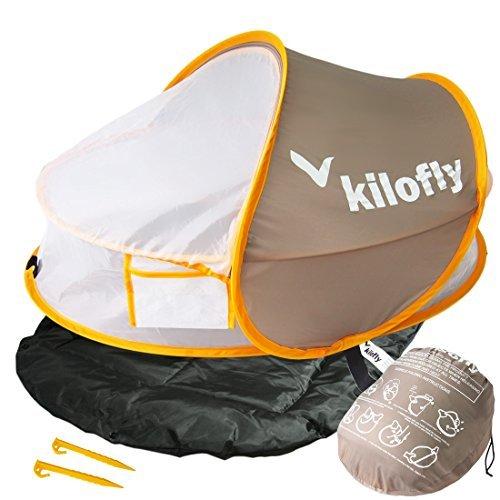 Kilofly Lit de voyage portable pour bébé avec matelas et 2 pinces
