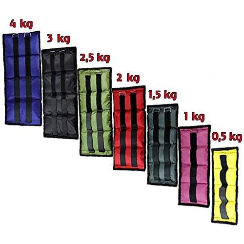 BB Sport Polsini con Pesi 2 x 0,5-4 kg di Peso in Esecuzione per Caviglie e Polsi, Peso:2 x 0.5 kg