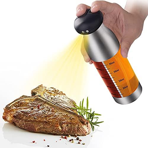 Jingli Pulverizador de aceite de acero inoxidable, antifugas Vinegar Soy, dispensador de salsa para barbacoa