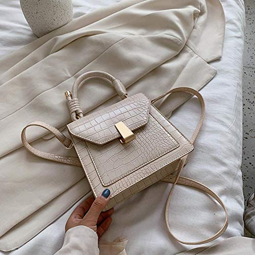 PANZZ Crossbody Bags Women Shoulder Handbags Female Summer Bag, White, Mini