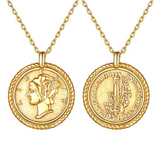 925 Sterling Silber Frei Richtig Anhänger Halskette Sterling 18K Vergoldet Jungfrau Maria Medaille Münze Anhänger Schmuck