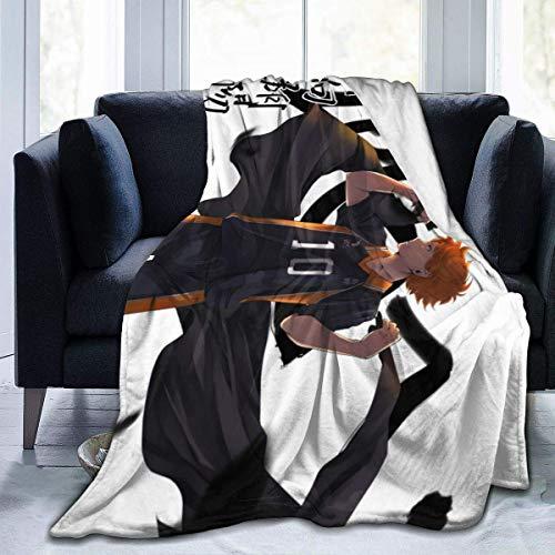 Kuroo Haikyuu Manta acogedora y linda novedad divertida suave y cómoda manta para el sofá del coche, decoración del hogar, edredón de franela impresa 3D manta para ventiladores de 156 x 150 cm