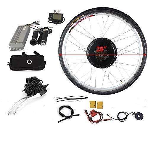 "WUPYI2018 36V 800W 28"" Elektro-Fahrrad Kit,E-Bike Hinterrad Umbausatz Kit mit LCD Display"