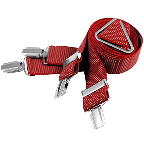 Lindenmann Mens Braces/Suspenders/mens suspenders, X-shape, 35 mm stetch, XXL, red, 7545-002, Größe/Size:110