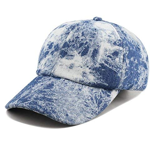 eb1d932116f61d THE HAT DEPOT Unisex 100% Cotton Tie Dye Low Profile Washed Baseball Cap