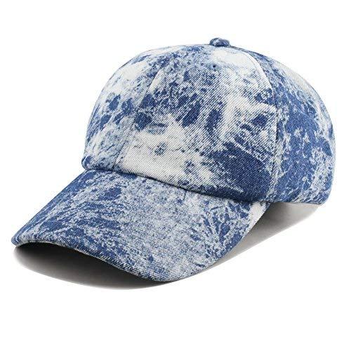 8821ba3eb3ea4 THE HAT DEPOT Unisex 100% Cotton Tie Dye Low Profile Washed Baseball Cap
