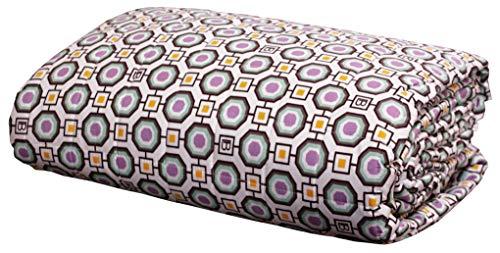 Colcha acolchada de primavera y verano de Laura Biagiotti para cama de matrimonio de 2 plazas, 260 x 270 cm, de percal puro algodón (Carrara - Lila)