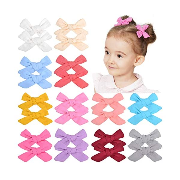 24pcs Baby Girls Hair Bows Fully Lined Alligator Clips Hair Barrettes Hair Accessories for Kids Toddlers Infants