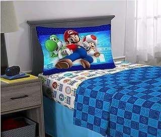 Jay Franco & Sons Super Mario 3 Piece Twin Size Microfiber Sheet Set