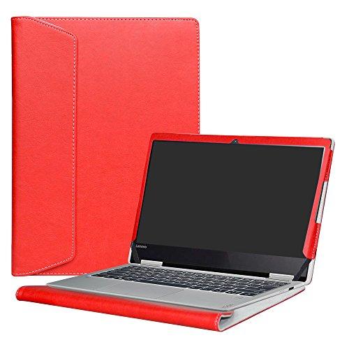 Alapmk Diseñado Especialmente La Funda Protectora de Cuero de PU Para 12.5' Lenovo Yoga 720 12 720-12IKB Ordenador portátil,Rojo
