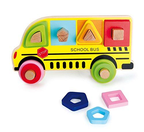 Legler Small Foot Company (Smb5V) - 4755 - Puzzle en Bois À Poser - Bus Scolaire