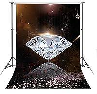 Photogaphy5x7ft結婚披露宴ポリエステル背景子供ポートレート写真小道具HXFS128のHDダイヤモンド背景