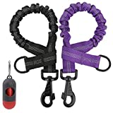 NOYAL 2 Pack 1.7 FT Bungee Dog Leash Heavy Duty Shock Absorbing Extension Leash Improved Dog Safety Suitable for Walking, Running, Bicycling