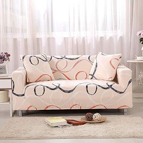 Funda de sofá de impresión Colorida geométrica Fundas elásticas Funda de sofá antisuciedad Funda de sofá Funiture Toalla All Wrap A10 3 plazas