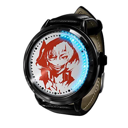 Reloj Tokyo Ghoul Reloj Pantalla táctil LED Impermeable Luz Digital Reloj Reloj de Pulsera Unisex Cosplay Regalo Nuevos Relojes de Pulsera niños-A3