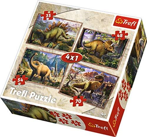 Puzzle Dinozaury 4w1