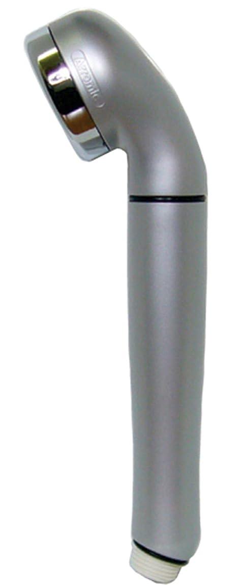 個人的に居間より良いアラミック 節水シャワーヘッド シルバー 幅5.8×長さ24cm 節水効果最大60% 日本製 WSSL-24N