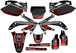 Senge Graphics Kit Compatible with Honda 2005-2007 CRF 450R Surge Black Graphics kit